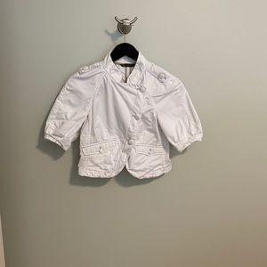 Armani Exchange white crop jacket size S